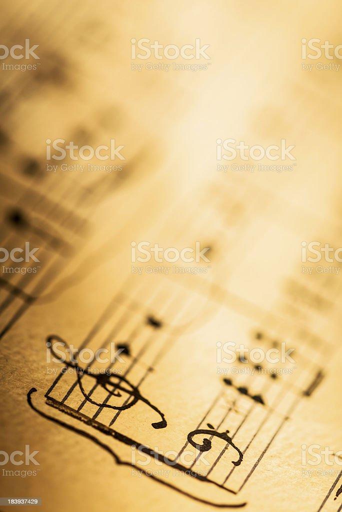 Hand written musical pentagram royalty-free stock photo