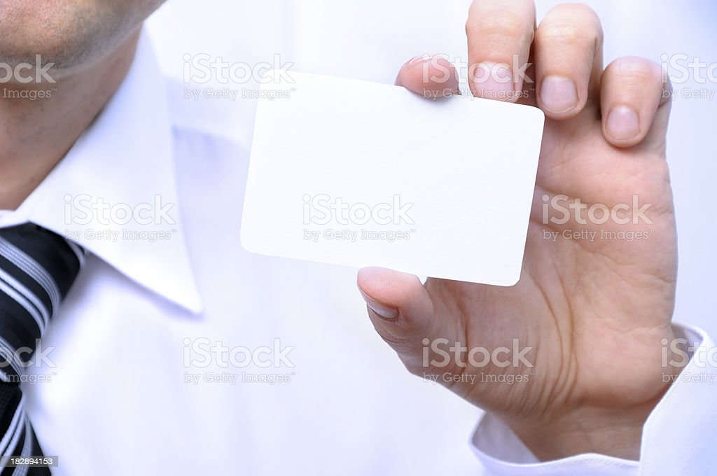 Hand wth card royalty-free stock photo