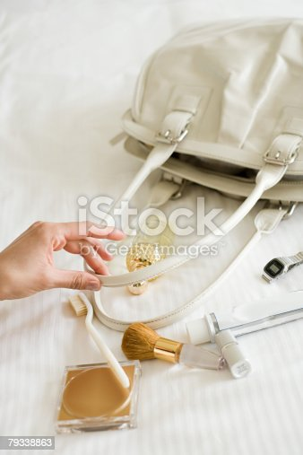 istock Handbag on bed 79338863