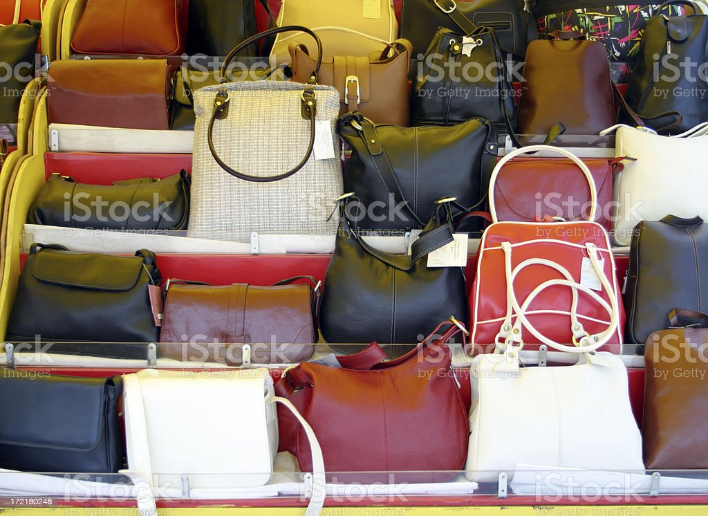 Handbag stall royalty-free stock photo