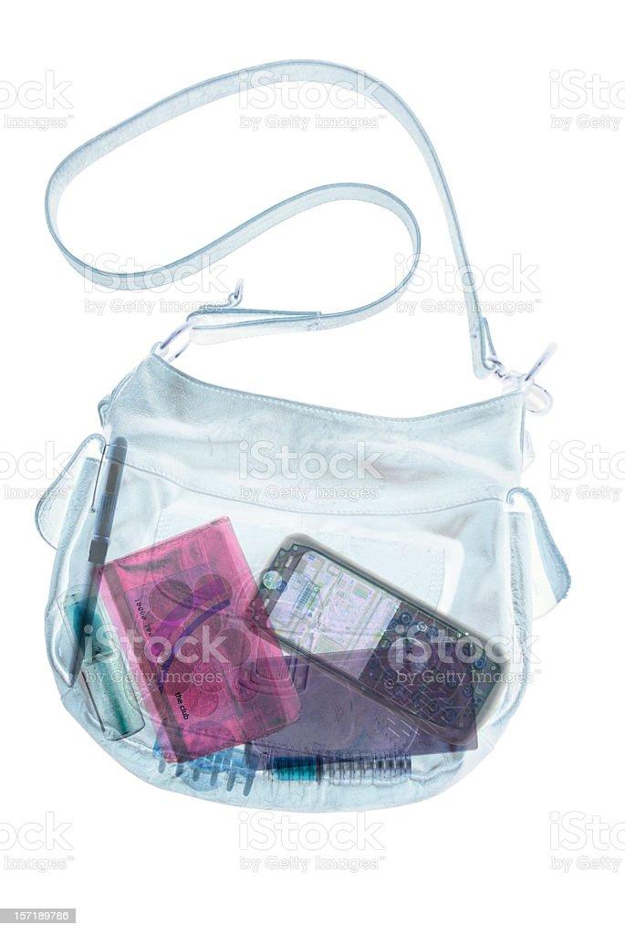 Handbag X-Ray stock photo