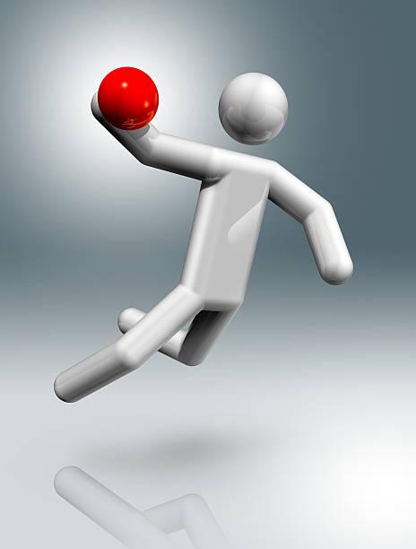 Handball 3D símbolo - foto de stock