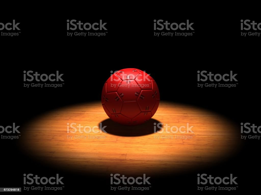 Handball ball spotlight - fotografia de stock