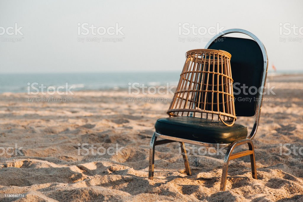 Handball Basket and chair for goal keeper on the beach, Sport for...