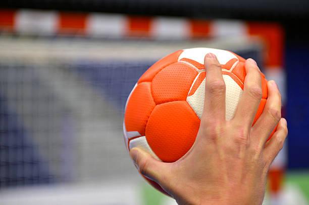 Handball-objetivo - foto de stock