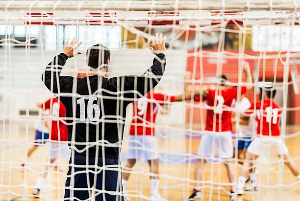 handball match. - handboll bildbanksfoton och bilder