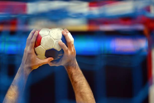 Jugador de Balonmano - foto de stock
