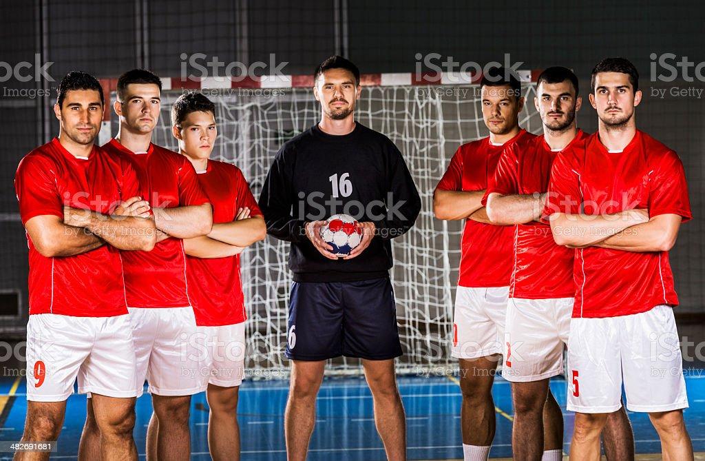 Handball team. royalty-free stock photo