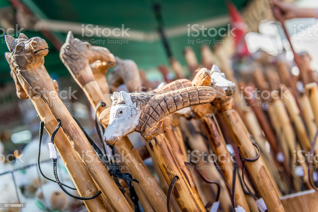 Handcarved Canes - foto de stock