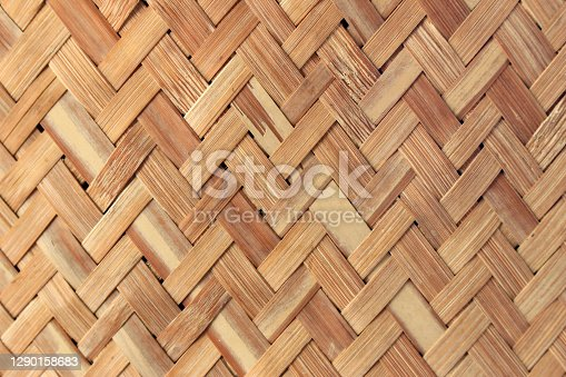 Handcraft bamboo weave texture and background
