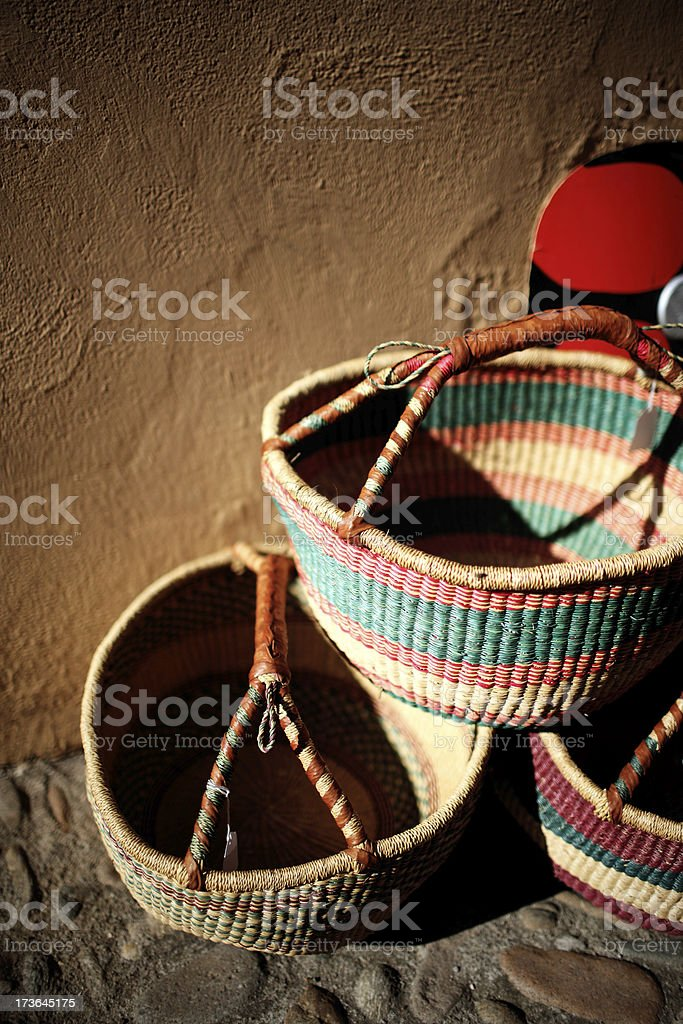 handcraft basket royalty-free stock photo