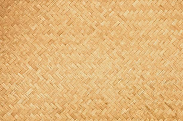 hantverk naturliga vävda bambu textur bakgrund - halmslöjd bildbanksfoton och bilder