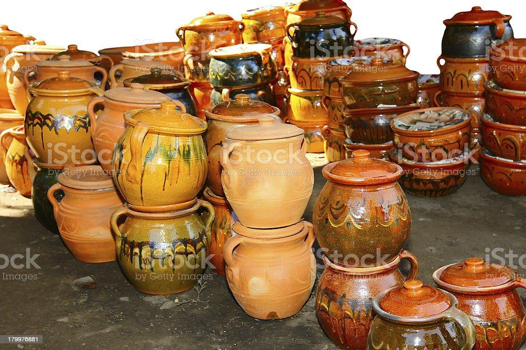Handcraft pottery royalty-free stock photo