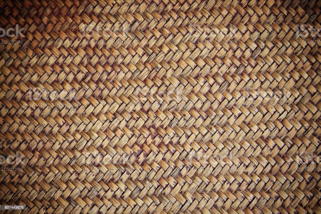 handcraft weave wicker for textured background stock photo