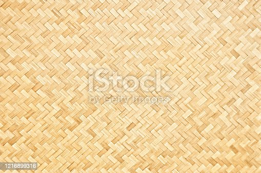 Handcraft woven bamboo pattern for background and decorative.