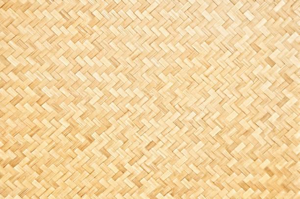 hantverk vävda bambu mönster för bakgrund och dekorativa. - halmslöjd bildbanksfoton och bilder