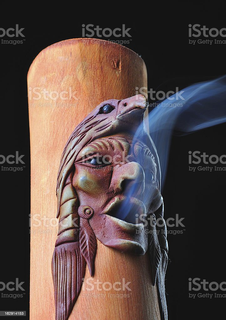 Handcrafted bamboo incense holder royalty-free stock photo