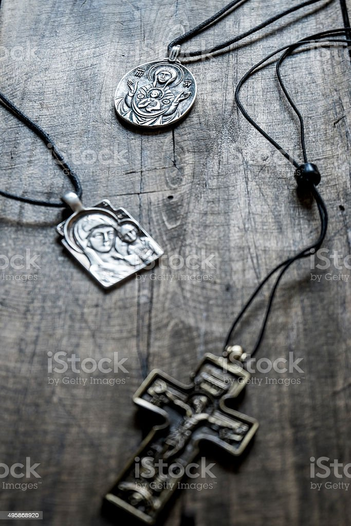 Handcrafted Jewelry Religious Concepts Stock Photo