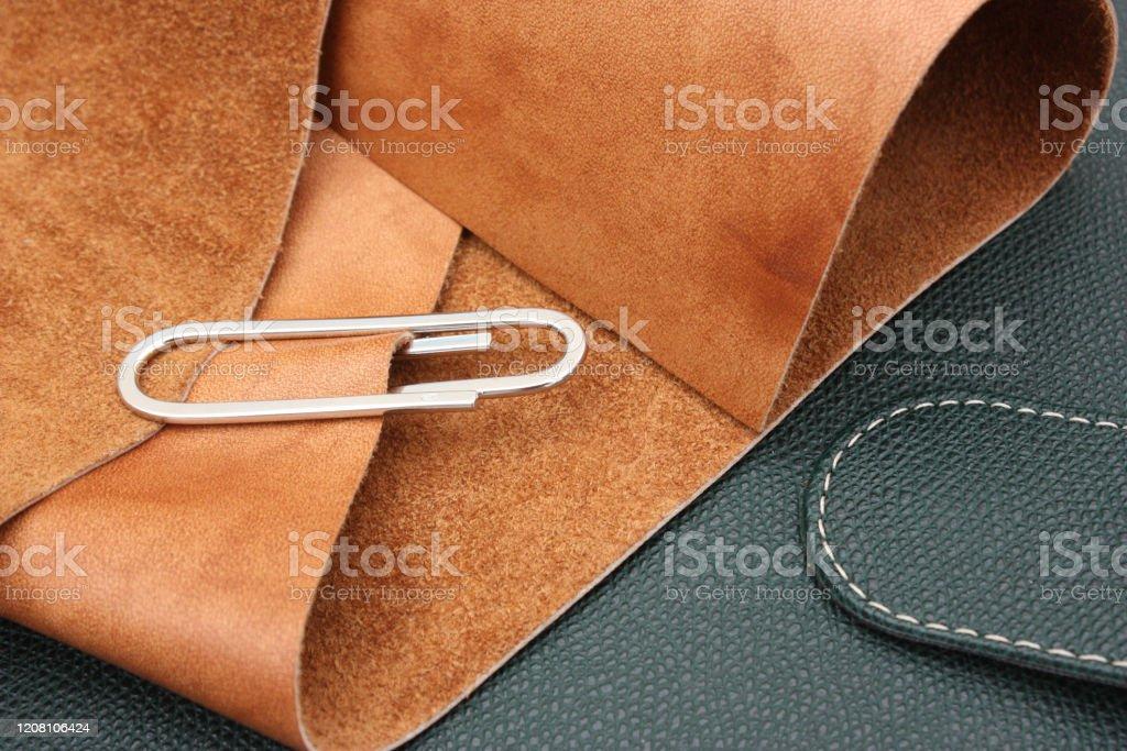 Handcrafted leather work  Furnishing - Foto stock royalty-free di Artigianato