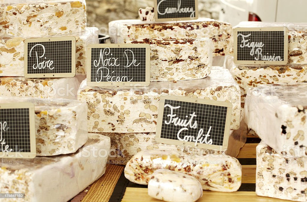Handcrafted Nougat at French Market stock photo