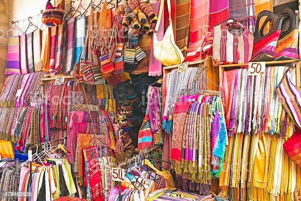 Handcrafts Shop At The Market In Morocco Stock Photo - Download Image Now