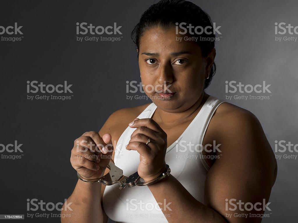 Handcuffed royalty-free stock photo
