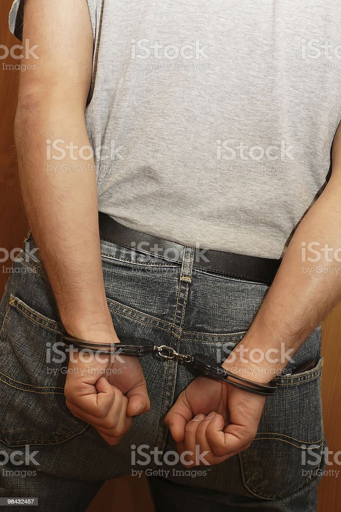 Handcuffs 10 royalty-free stock photo