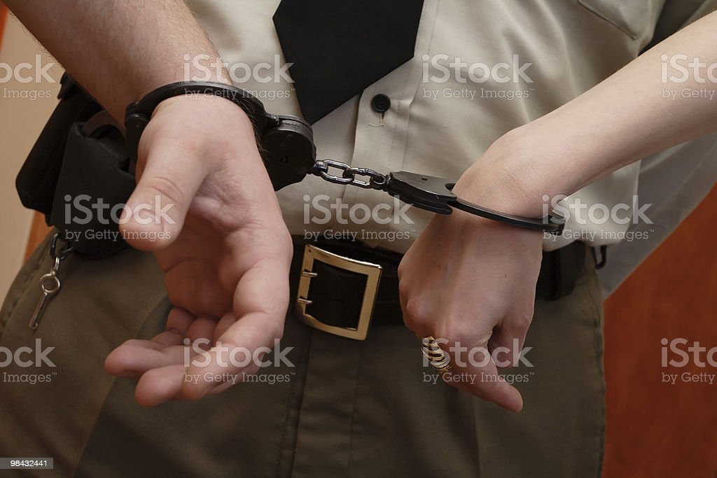 Handcuffs 12 royalty-free stock photo
