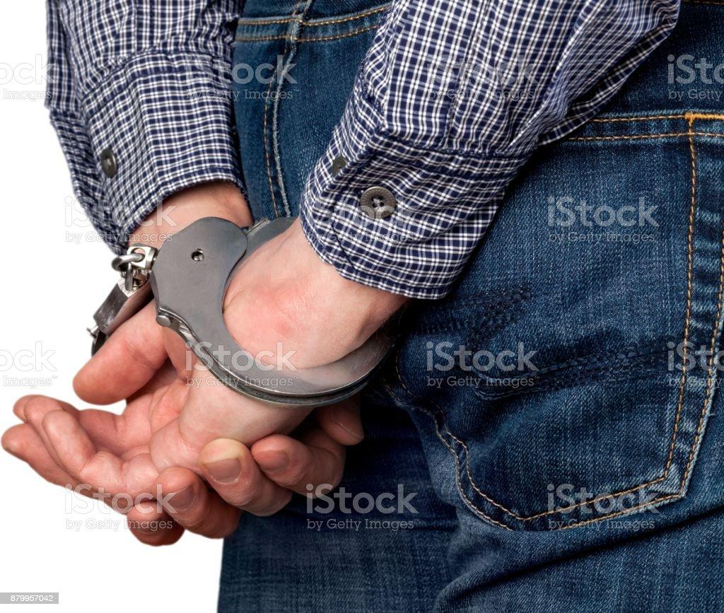 Handcuffs. stock photo
