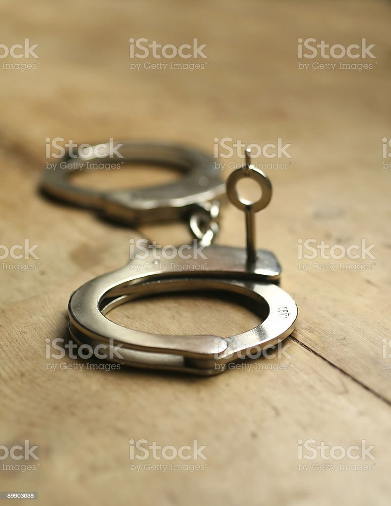 handcuffs royalty-free stock photo