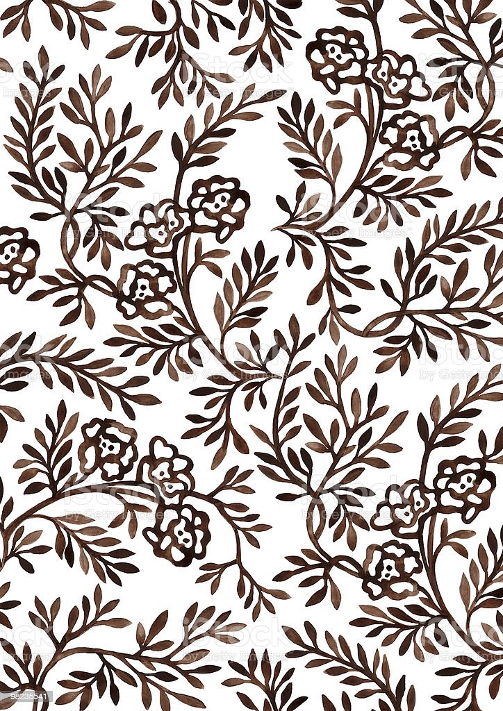 Hand-drawing floral ornament. royalty-free stock photo