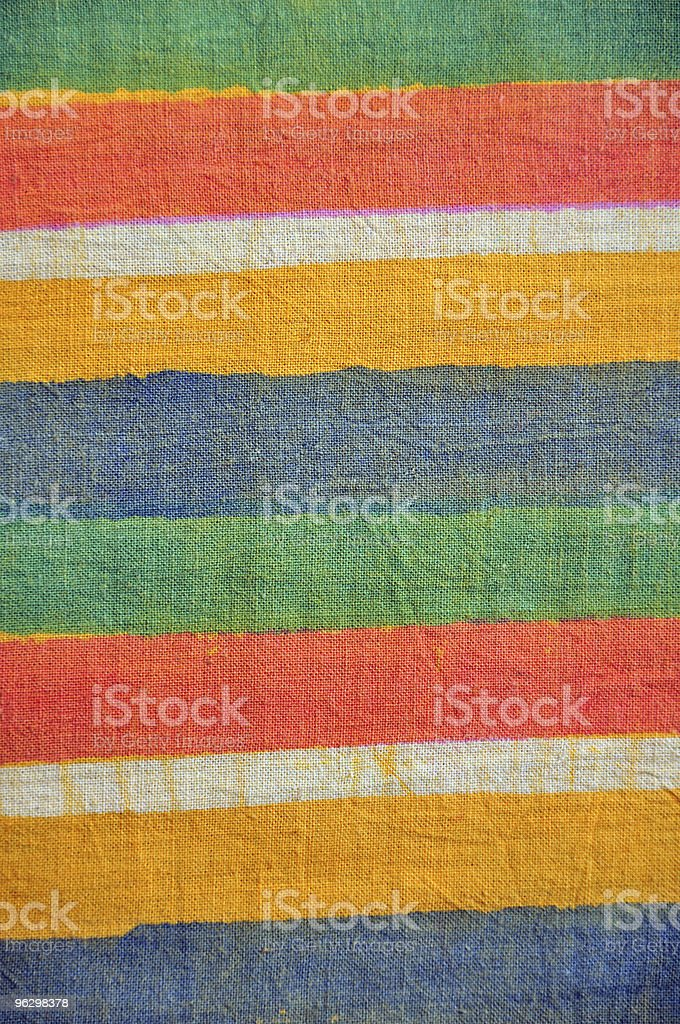 Hand-dyed cotton with bleeds stock photo