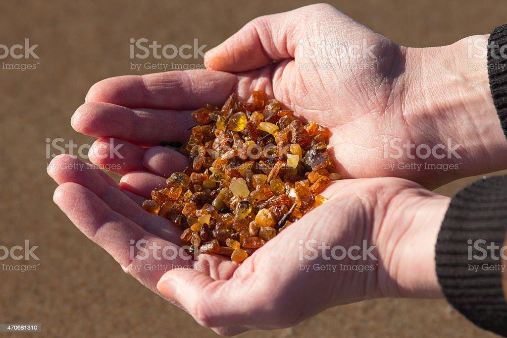 Handvoll amber – Foto