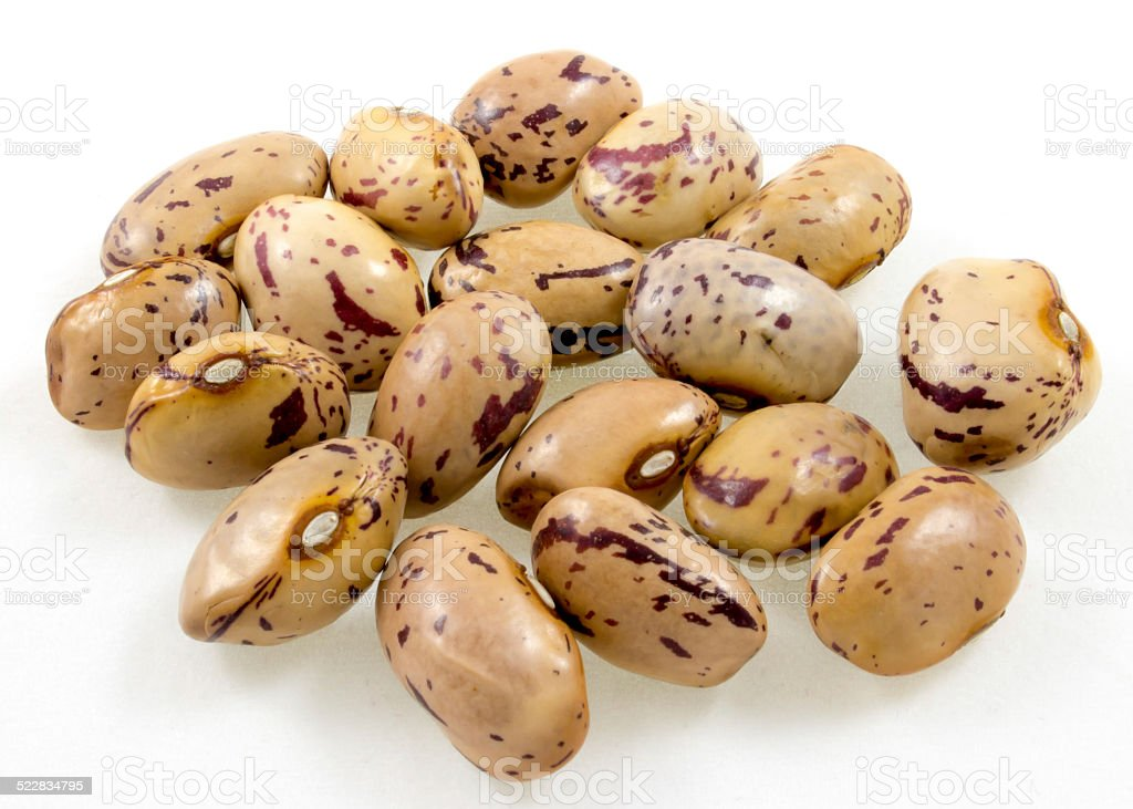 handful of beans stock photo