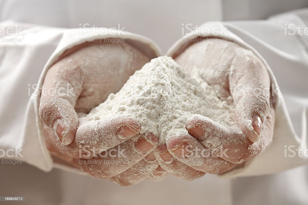 Handful of Flour royalty-free stock photo