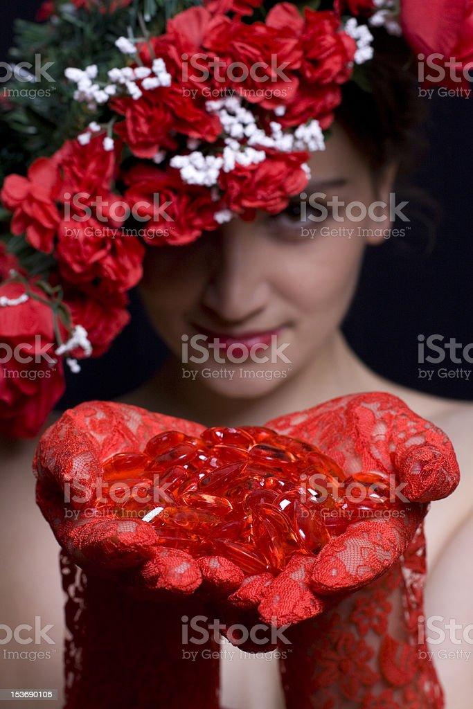 Handful of Hearts royalty-free stock photo