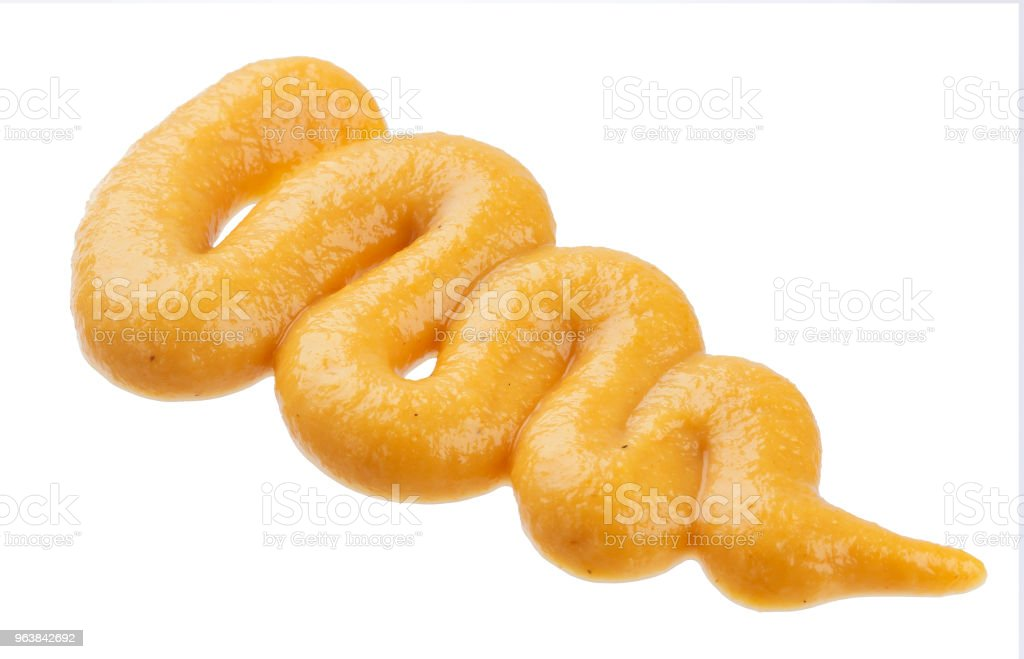 Handful of mustard isolated on white background - Royalty-free Belarus Stock Photo
