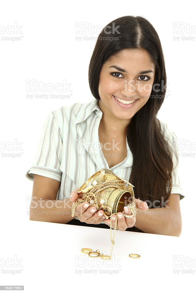 Handful of scrap gold royalty-free stock photo