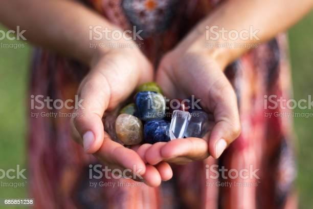 Handfull Of Gemstones Stock Photo - Download Image Now