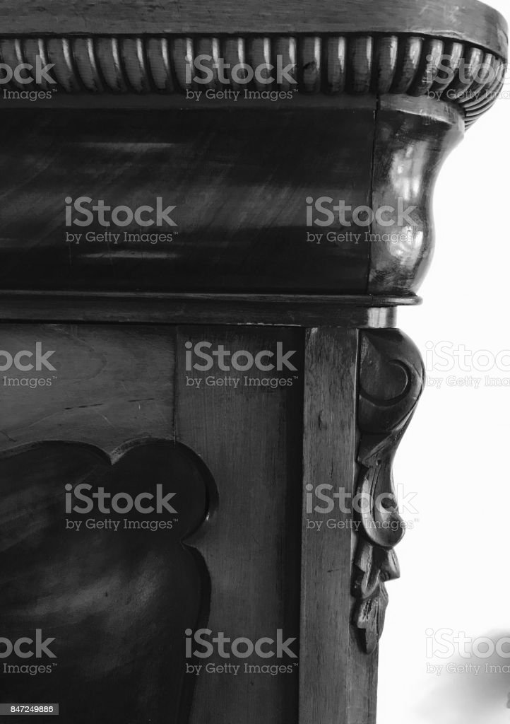 handgemaakte kast stock photo