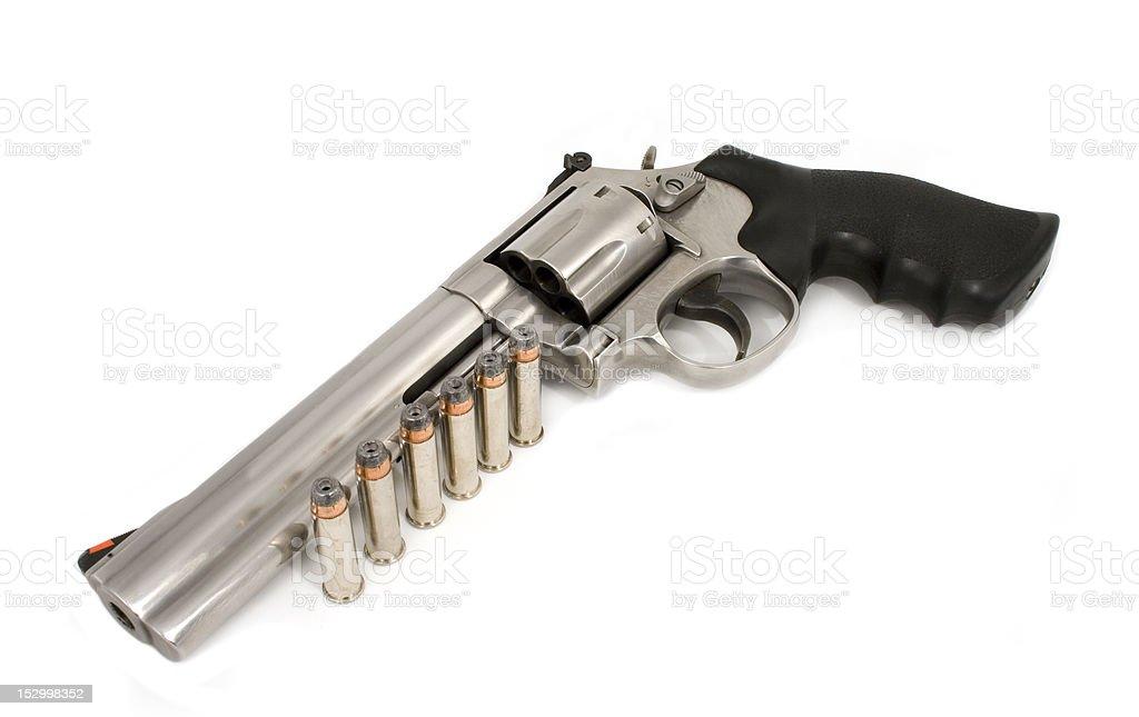 Arma de mano 357 Magnum y de las balas - foto de stock