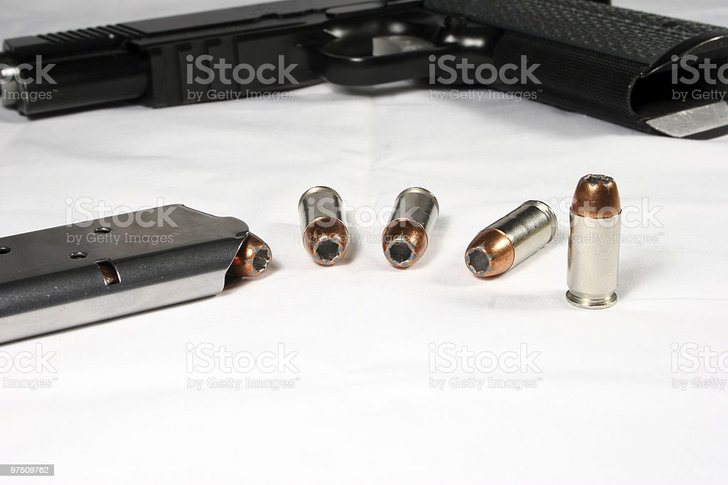 Handgun and Ammo royalty-free stock photo