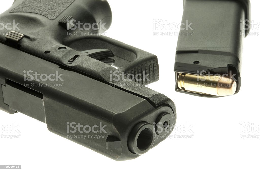 Handgun and full clip royalty-free stock photo