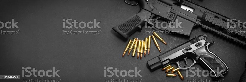 Pistola e espingarda - foto de acervo