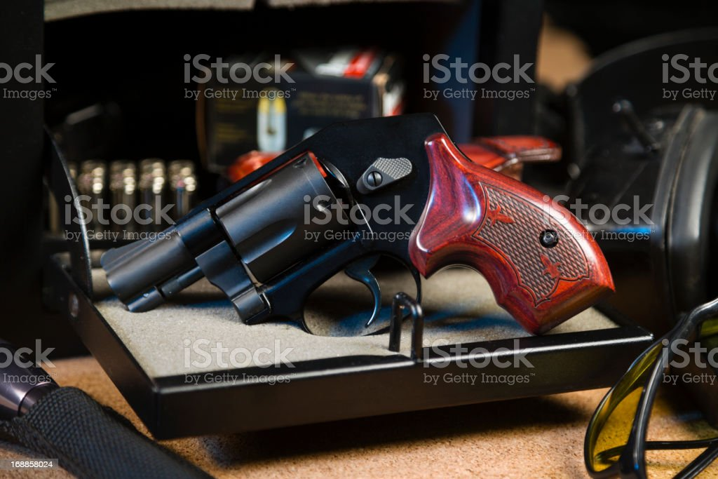 Handgun and Safe stock photo