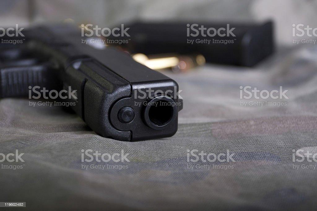 Handgun Barrel stock photo