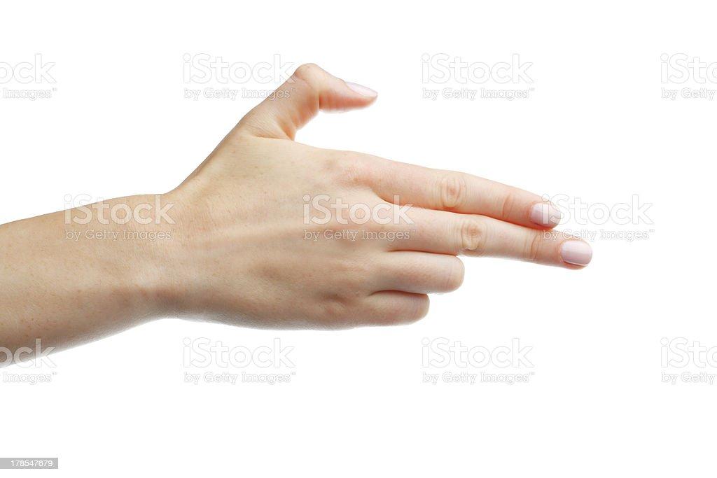 Handgun Hand Gesture stock photo