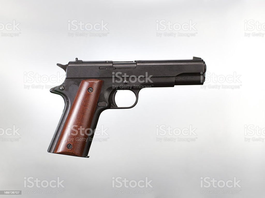 Handgun stock photo