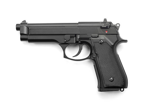 Handgun Handgun isolated on white pistol stock pictures, royalty-free photos & images