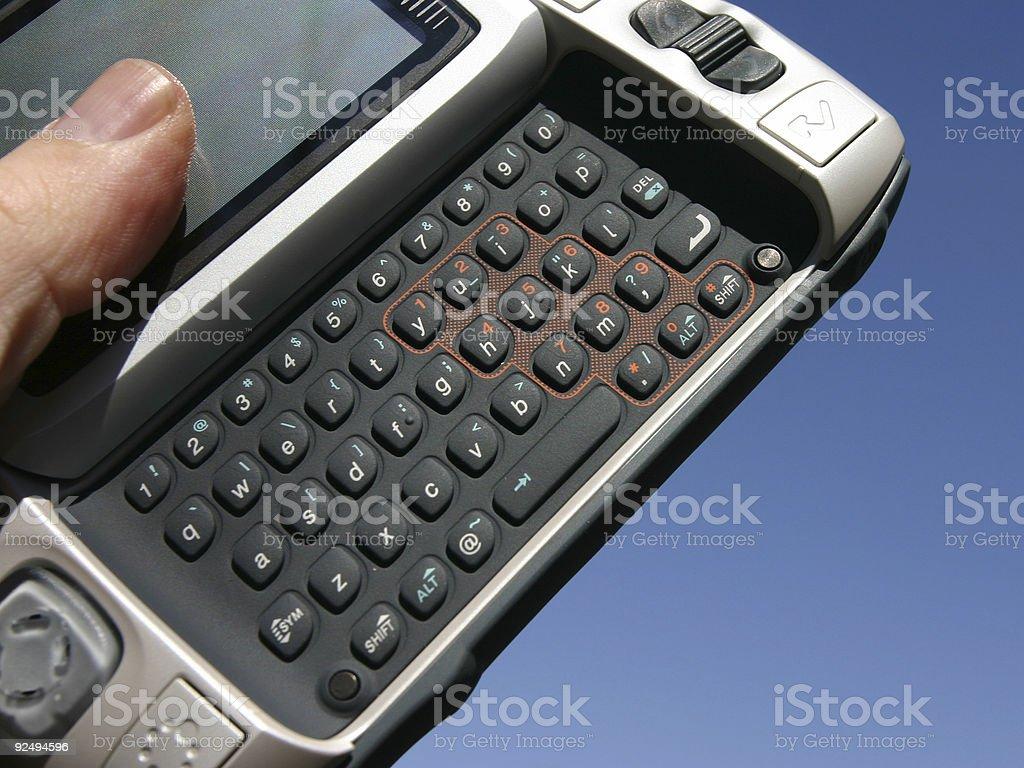 Handheld computer royalty-free stock photo